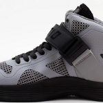 Ektio Grey/Black Breakaway Ankle Support Basketball Shoes Side View (Inside)