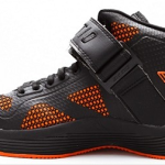 Ektio Orange/Grey Breakaway Ankle Support Basketball Shoes Side View (Inside)