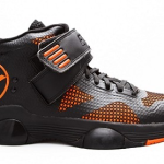 Ektio Orange/Grey Breakaway Ankle Support Basketball Shoes Side View (Outside)