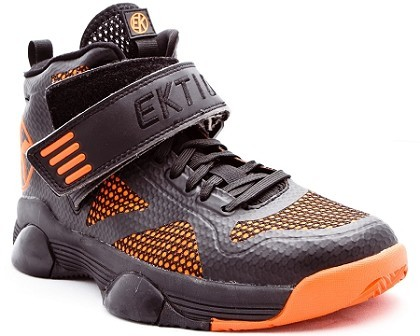 Ektio Orange/Black Breakaway Ankle Support Basketball Shoes