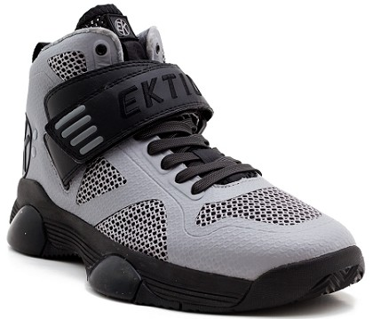 Ektio Grey/Black Breakaway Ankle Support Basketball Shoes